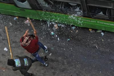 45 buses damaged in Jan 26 violence, says DTC