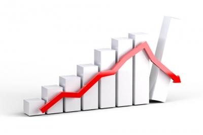 Sensex drops 550 points, holds on to 49,000 (Ld)