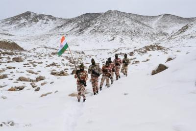 ITBP's R-Day march with Tricolour at 17,000 ft
