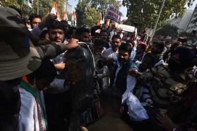IYC activists protest fuel hike, seek resignation of Petroleum Minister
