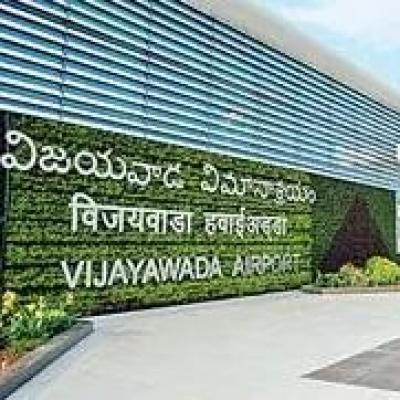 Taxing aircraft's wing knocks down lighting pole in Vijayawada airport